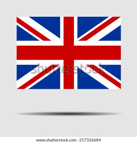 National flag of United Kingdom - stock vector