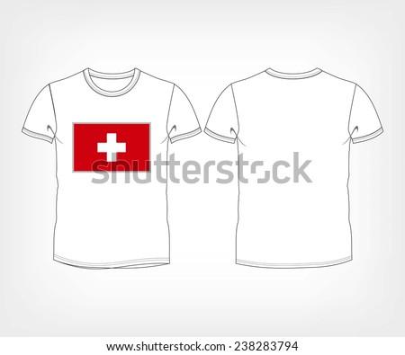 National shirt of Switzerland over isolated white background - stock vector