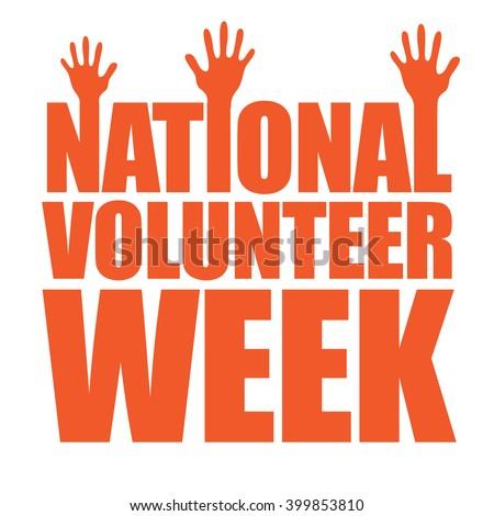 National volunteer week design. EPS 10 vector. - stock vector