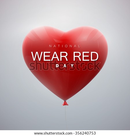 Wearing red on valentines day