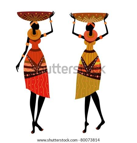 native African women - stock vector