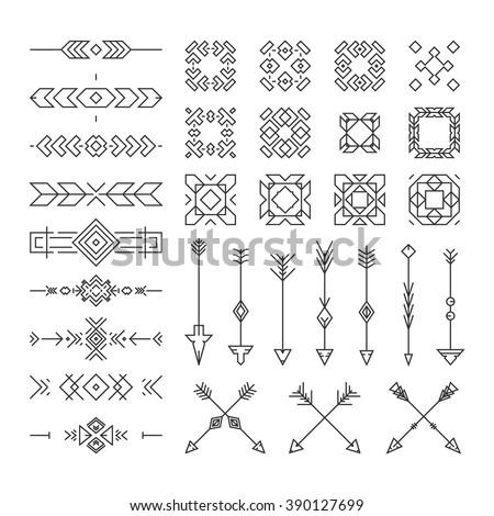Native american design elements including borders stock vector native american design elements including borders embellishments arrows made in vector perfect design stopboris Image collections