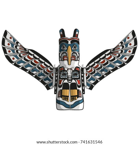 Native American Eagle Totem Vector Traditional Stock Photo Photo