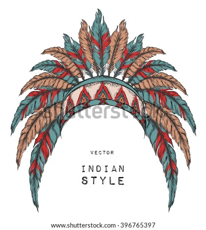 headdress stock images, royalty-free images & vectors | shutterstock - Native American Pictures Color