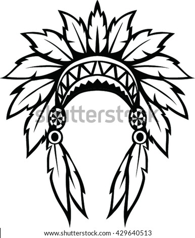 native american indian headdress vector illustration stock vector rh shutterstock com