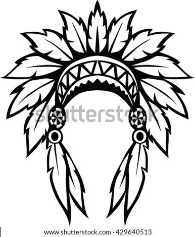Native American Indian Headdress Vector Illustration