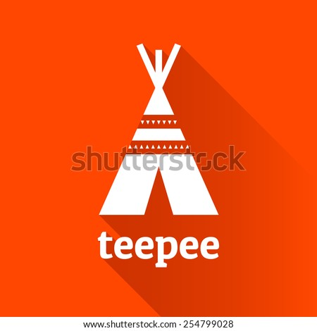 Native American teepee tent shelter logo graphic icon