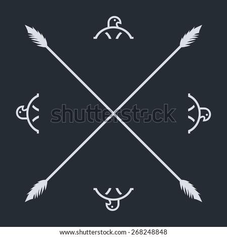 native ethnic art symbol - stock vector
