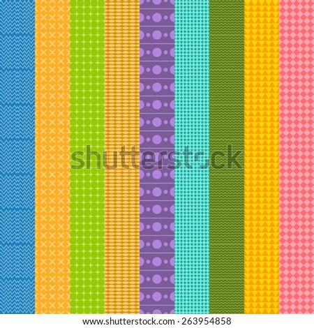 native pattern set - stock vector