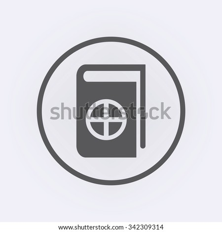 Native Spirituality Book Icon in circle . Vector illustration - stock vector