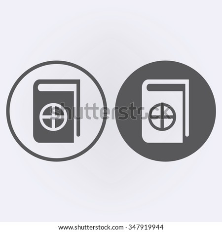 Native Spirituality Book Icon set in circle . Vector illustration - stock vector