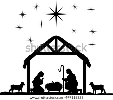 Nativity Scene Stock Images Royalty Free Vectors