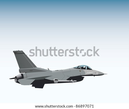 NATO fighter jet vector image - stock vector
