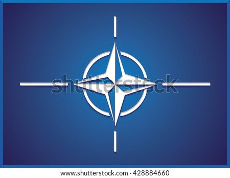 NATO (North Atlantic Treaty Organization) flag.Vector illustration.