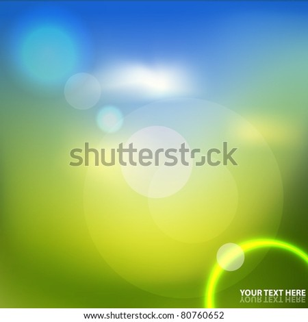 Natural abstract background - stock vector