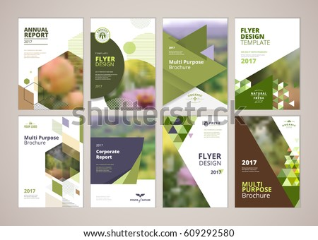 natural organic products brochure cover design stock vector, Presentation templates