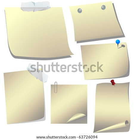 Natural colored papers vector - stock vector