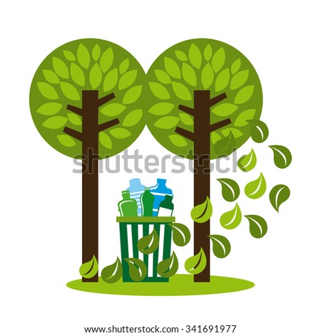 Natural concept with eco icons design, vector illustration 10 eps graphic