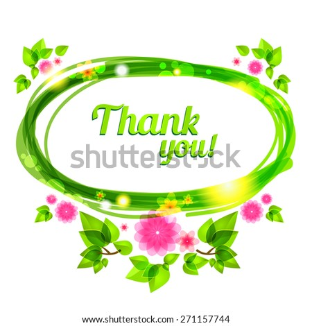 Natural floral frame with place for text. - stock vector
