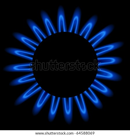 Natural gas flame, vector illustration. - stock vector