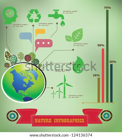 Natural information graphics,vintage,vector