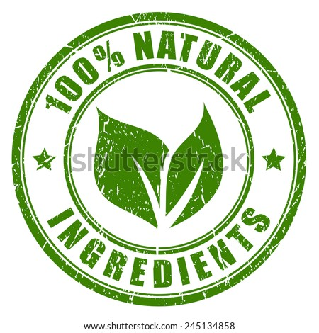 Natural ingredients stamp - stock vector