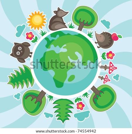 natural life illustration. vector - stock vector