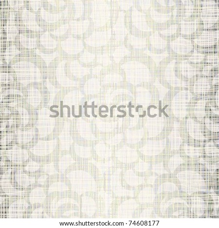 Natural linen fabric with drawing - stock vector