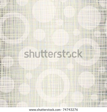 Natural linen fabric with drawing circles a seamless background - stock vector