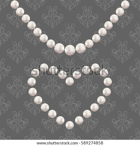 Pearl Necklace Vector Stock Images, Royalty-Free Images ...