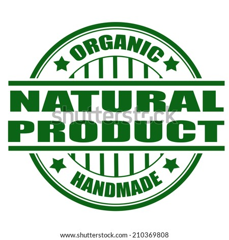 natural product grunge stamp with on vector illustration