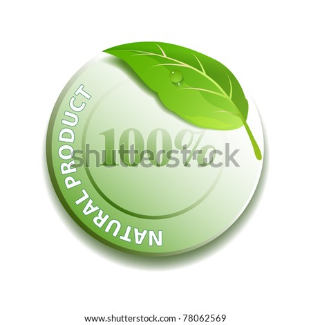 Natural product icon vector - stock vector