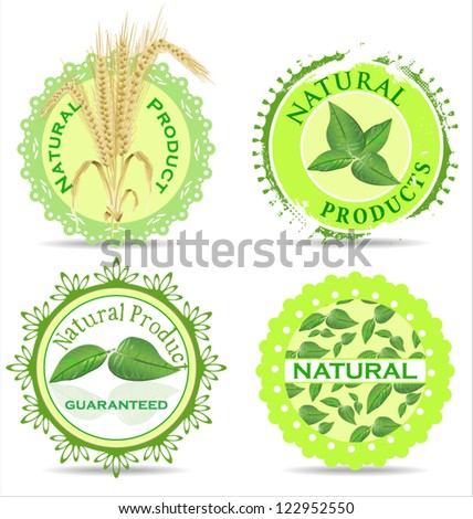 Natural product label set