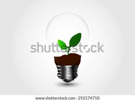 Natural product logo design vector template,Light Bulb with sprout inside,green eco energy concept,Icon Plant with leaves growing in a bulb. Recycling waste