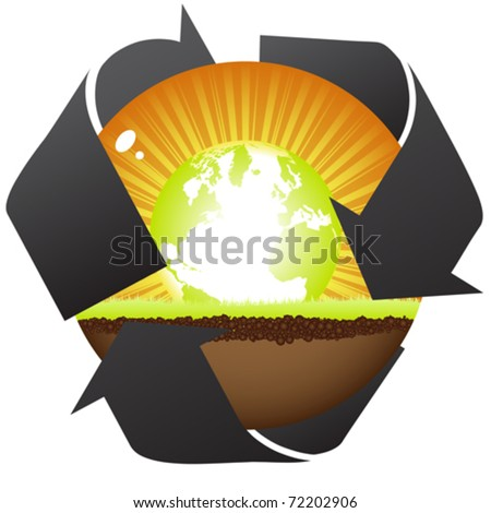 natural recycling - stock vector