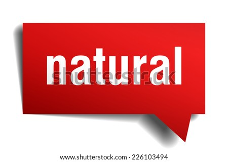 natural red 3d realistic paper speech bubble - stock vector