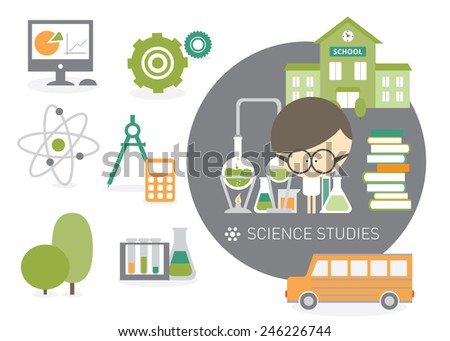 Illustration science subjects for college