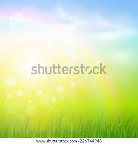 Natural sunny background. - stock vector