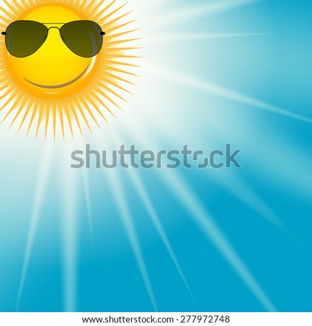 Natural Sunny  Background Vector Illustration EPS10. - stock vector