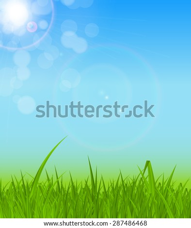 Natural Sunny Background Vector Illustration EPS10 - stock vector