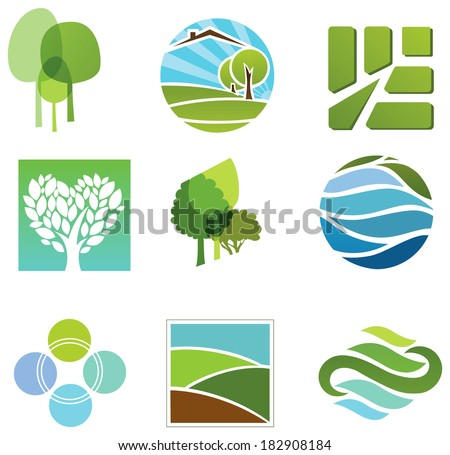 Natural symbols - stock vector