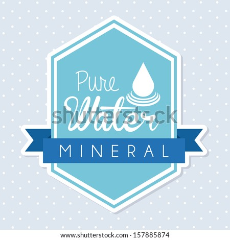 natural water over dotted background vector illustration - stock vector