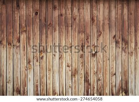 natural wooden background, vector - stock vector