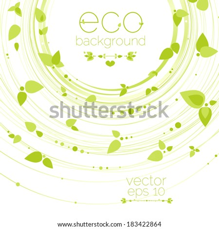 Nature abstract background, eco vector