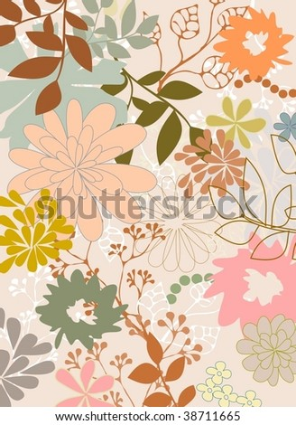 nature background 6 - stock vector