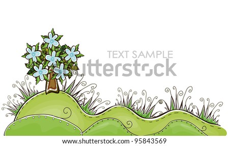 """Nature background """"Happy world"""" collection - stock vector"""