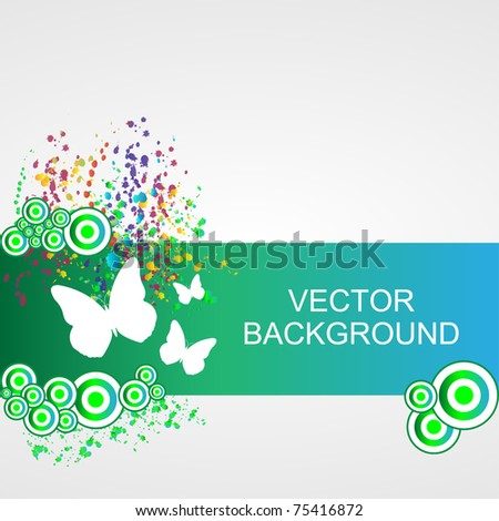 Nature background - vector - stock vector