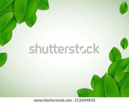 Nature background with fresh green leaves - stock vector