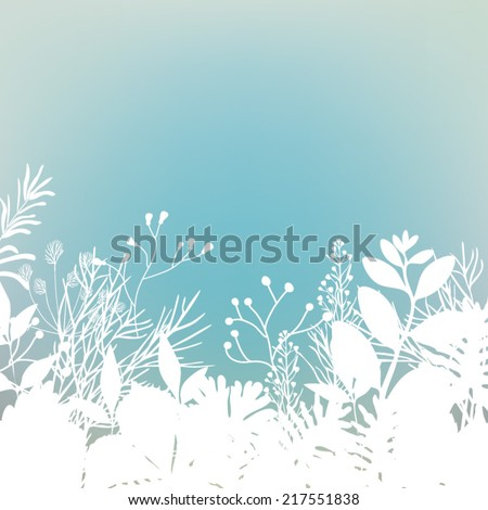 Nature background with leaves . Vector illustration. - stock vector