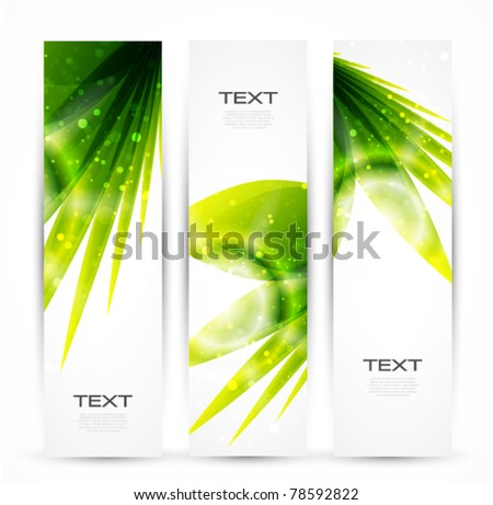 Nature banner - stock vector